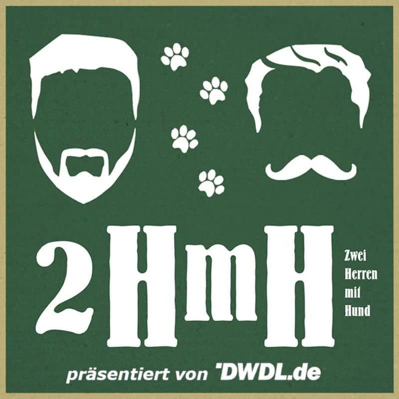 Zwei Herren mit Hund