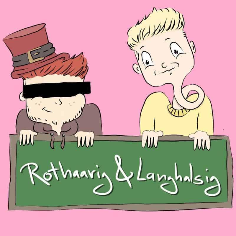 Rothaarig und Langhalsig